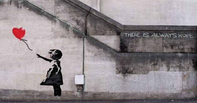 bansky ther is always hope